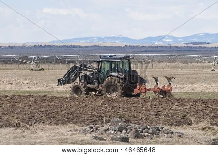 Tractor And Plow