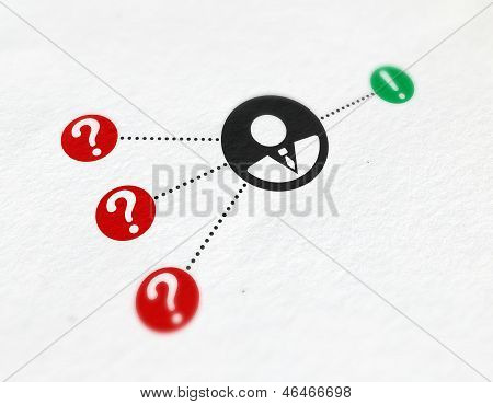 Infographic Print With Business Solution Icons