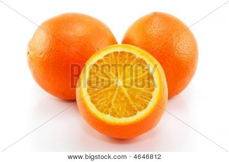 Citrus Fruits (orange) Isolated