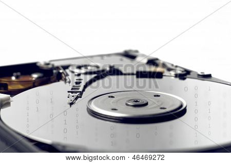 Hard Disk storage with binary numbers