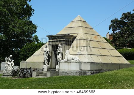 Mausoleum at the Green-Wood cemetery in Brooklyn