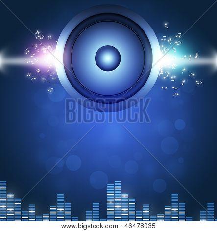Blue Sound Speakerl Music Background