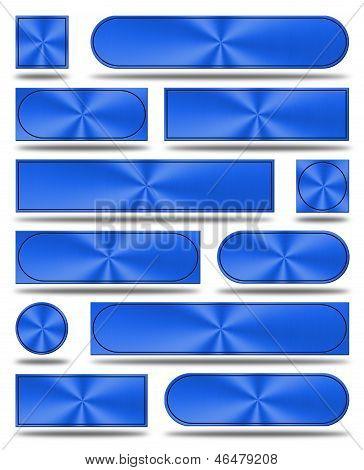 The Aluminum Buttons- Blue Version