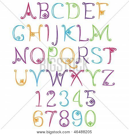 Hand Drawn Alphabet - Matching Letters/Numbers in Portfolio