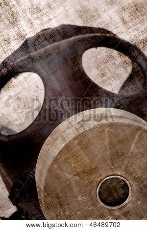 Máscara de gás tóxico Grunge