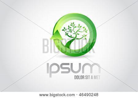 Eco Tree Logo Symbol Illustration Design