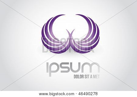 Wings Logo Symbol Illustration