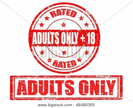 Adults Only-stamps