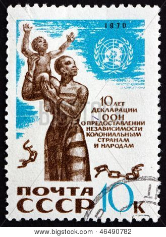 Postage Stamp Russia 1970 African Mother And Child