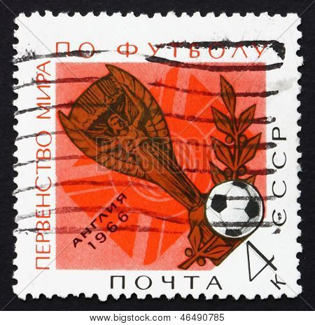Postage Stamp Russia 1966 Jules Rimet World Soccer Cup