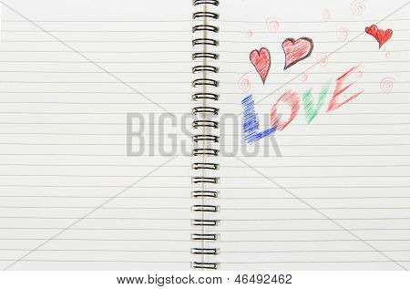 Love Written In Notebook