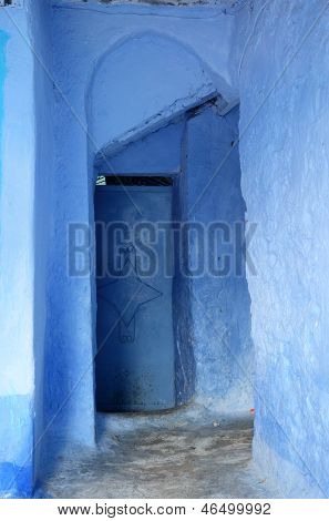 Blue Door In The Medina
