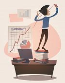 stock photo of grown up  - Business earnings graphic grown up - JPG