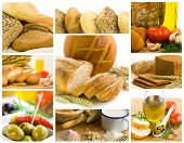 image of healthy food  - beautiful healthy food collage made from nine photographs - JPG