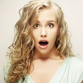 image of stereotype  - Surprised young woman - JPG