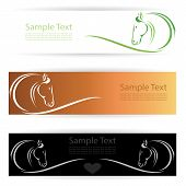 picture of harness  - Vector image of an horse banners  - JPG