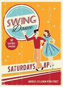 stock photo of fifties  - Poster Swing Dancers Party - JPG