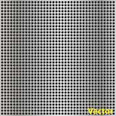 stock photo of metal grate  - Vector concept conceptual gray metal stainless steel aluminum perforated pattern texture mesh background - JPG