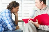 stock photo of aa meeting  - Man Having Counselling Session - JPG