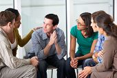 stock photo of praying  - Meeting Of Support Group - JPG