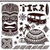 image of tiki  - Vintage Aloha Tiki illustration - JPG