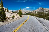 stock photo of granite dome  - Tioga Pass Road in Yosemite National Park - JPG