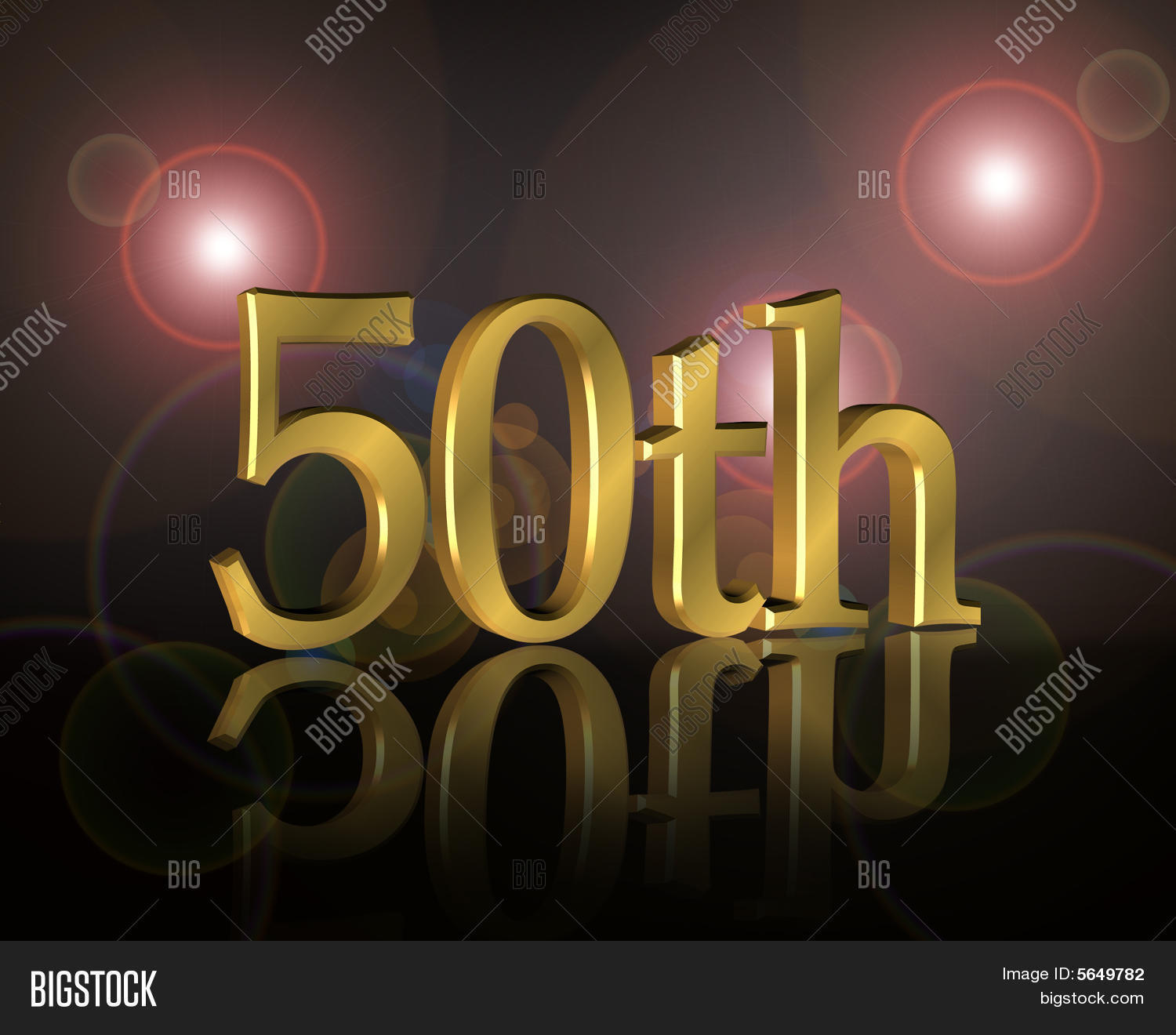 50th Birthday Party Invitation Image Amp Photo Bigstock