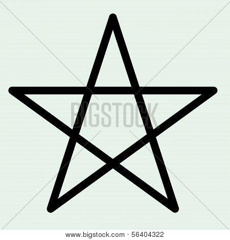 Star Symbol Vector.