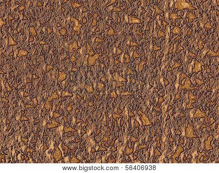 Golden Stones In Brown Wall