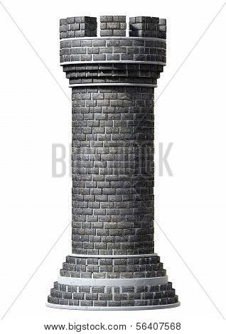 Pieza de ajedrez Castillo de ladrillo