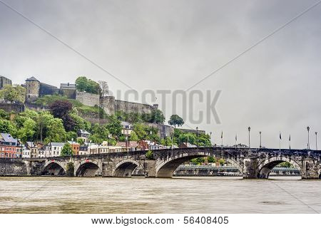 Jambes Bridge In Namur, Belgium