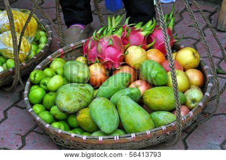 Постер, плакат: Тропические фрукты, холст на подрамнике