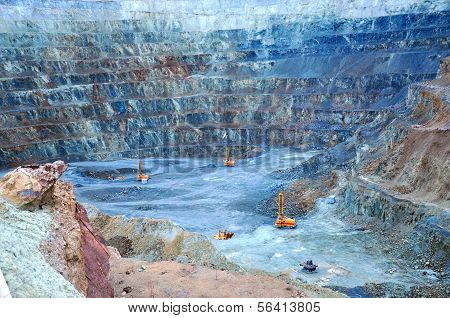 Open Pit Gold Mine In Rosia Montana, Romania