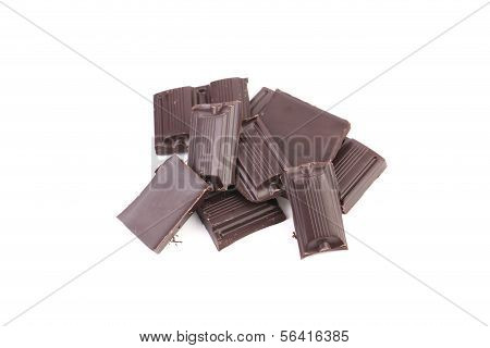 Tasty morsel of dark chocolate.