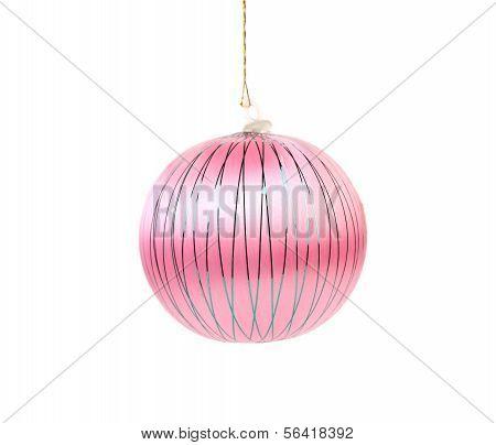 Pink dull christmas ball.