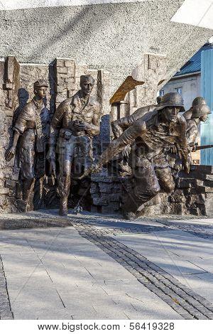 Memorial To 1944 Warsaw Uprising In Warsaw