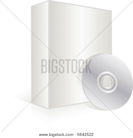 Blank software box and cd