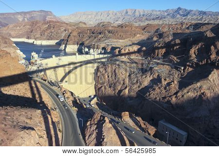 A Tillman Bridge Shadow Cast On Hoover Dam