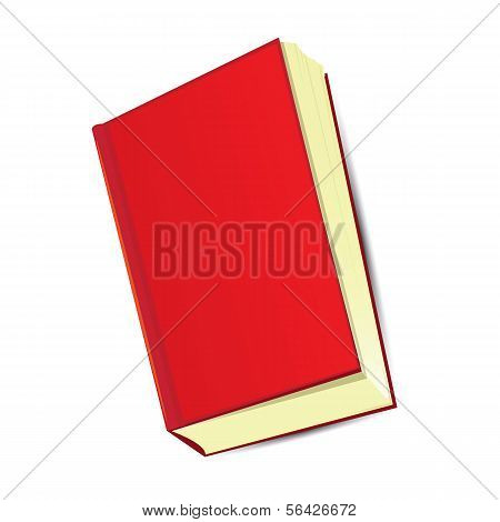 cartoon red book. vector illustration.
