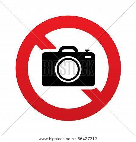 No Photo camera sign. Digital photo camera symbol