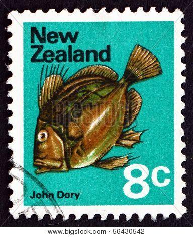 Postage Stamp New Zealand 1970 John Dory, Zeus Faber, Fish