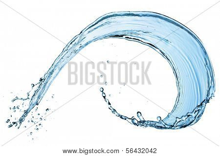Water splash isolated on the white background.