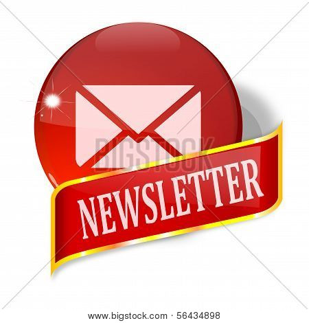 Ball and plate with the words newsletter