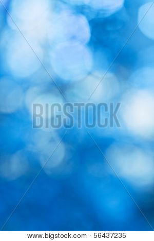 blue bokeh, bright winter background