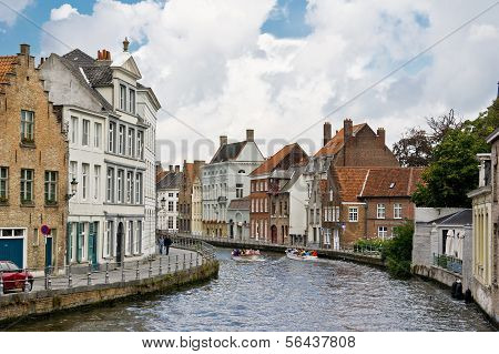 Water Canal In Brugge