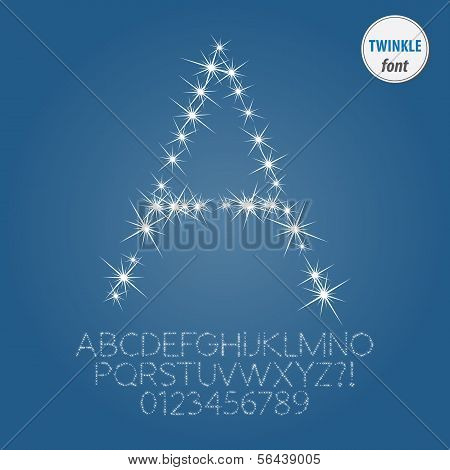 Abstract Twinkle Alphabet And Digit Vector
