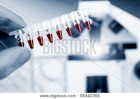 Tubes with genetic samples