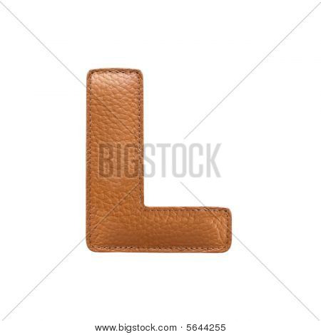 Letter L Made Of Leather