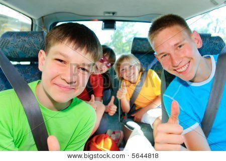 Teens traveling
