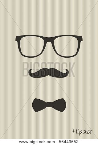 Hipster man elements